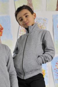 felpa da bambino grigio