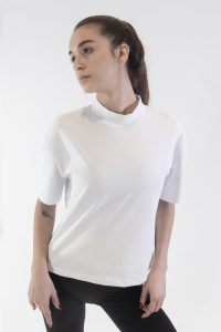 t-shirt collo in jersey