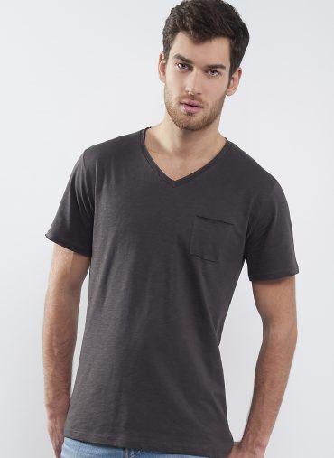 t-shirt uomo scollo a v